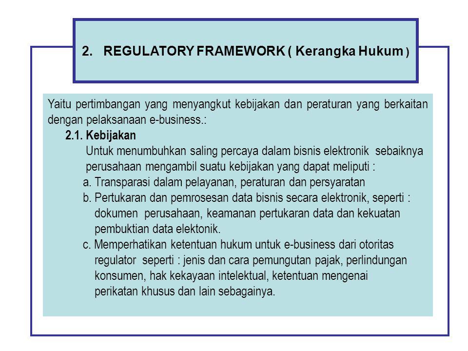 2. REGULATORY FRAMEWORK ( Kerangka Hukum )