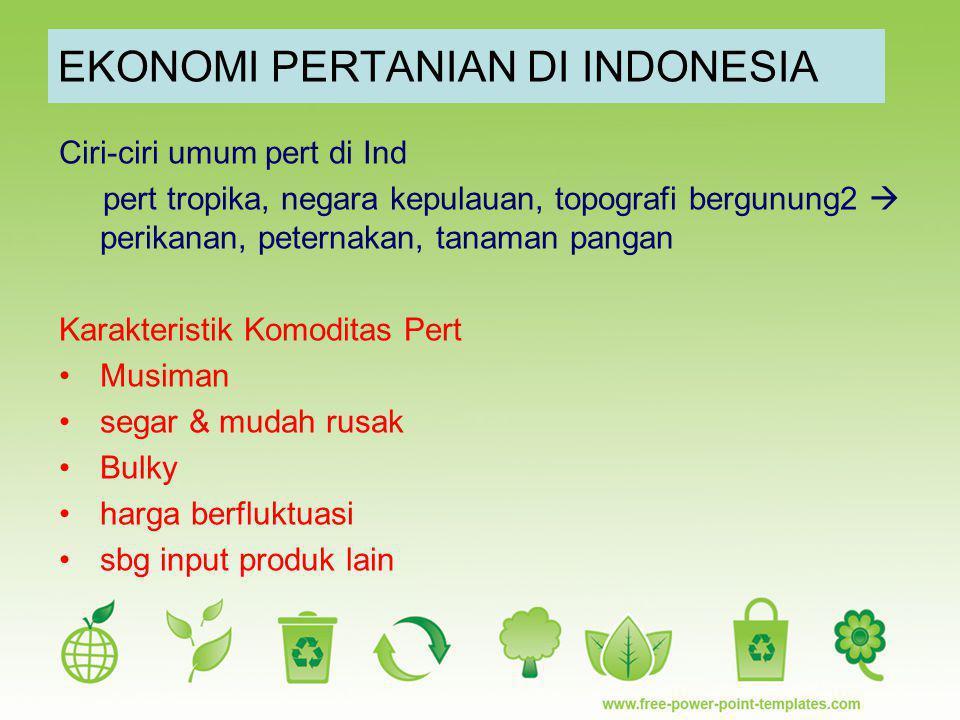 EKONOMI PERTANIAN DI INDONESIA