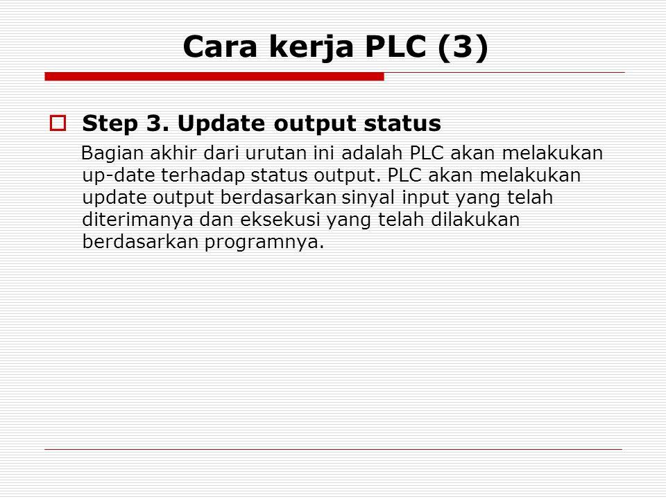 Cara kerja PLC (3) Step 3. Update output status