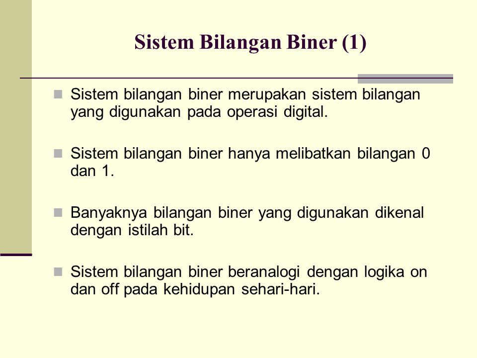 Sistem Bilangan Biner (1)