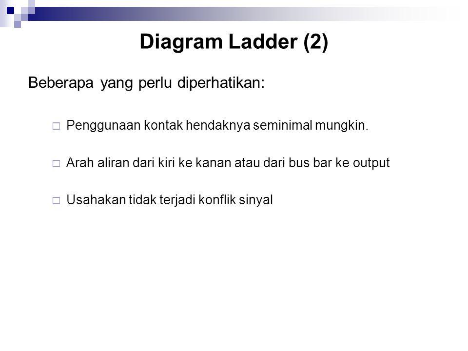 Diagram Ladder (2) Beberapa yang perlu diperhatikan: