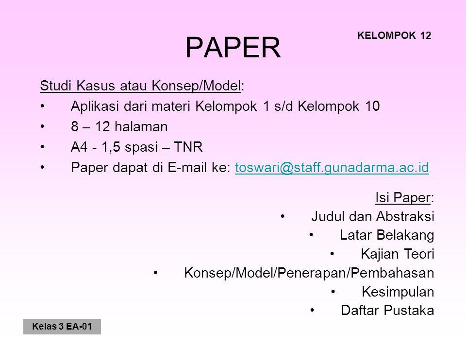 PAPER Studi Kasus atau Konsep/Model: