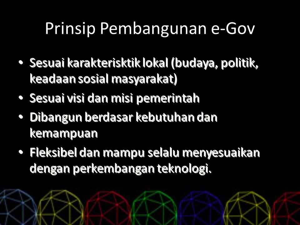 Prinsip Pembangunan e-Gov