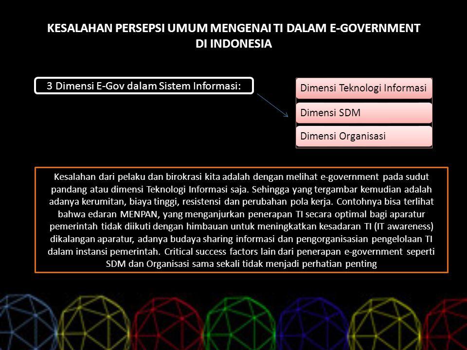 KESALAHAN PERSEPSI UMUM MENGENAI TI DALAM E-GOVERNMENT DI INDONESIA