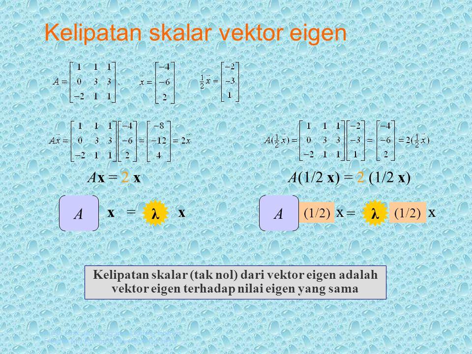 Kelipatan skalar vektor eigen