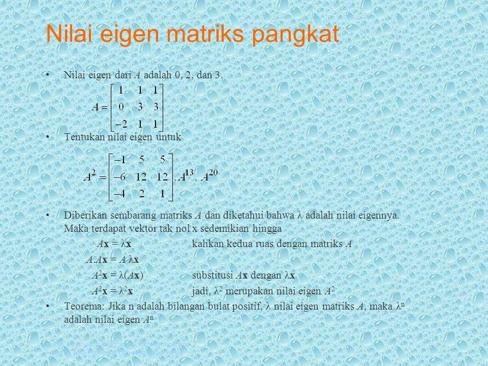 Nilai eigen matriks pangkat
