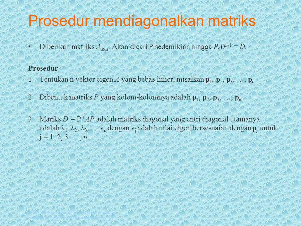Prosedur mendiagonalkan matriks