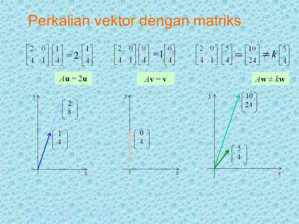 Perkalian vektor dengan matriks