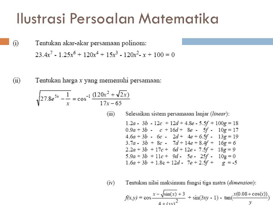 Ilustrasi Persoalan Matematika