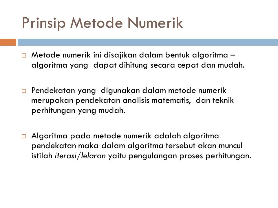 Prinsip Metode Numerik