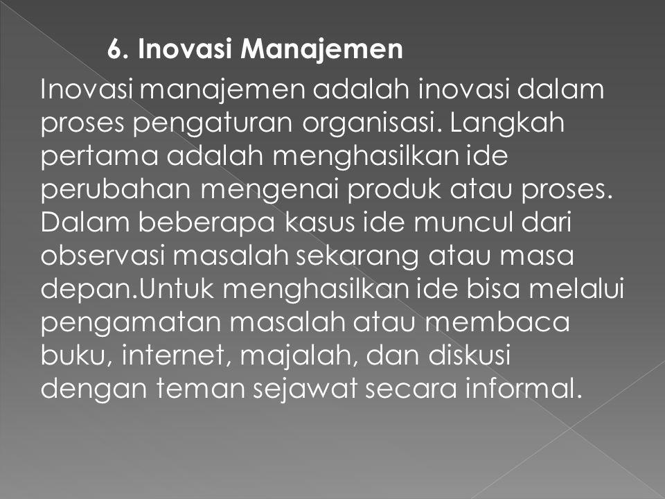 6. Inovasi Manajemen