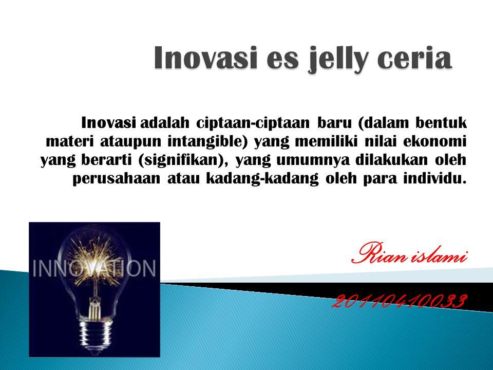 Rian islami 20110410033 Inovasi es jelly ceria