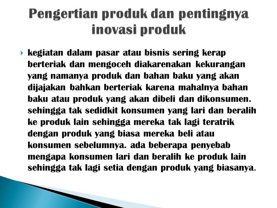 Pengertian produk dan pentingnya inovasi produk