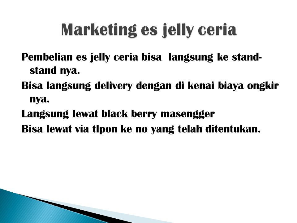 Marketing es jelly ceria