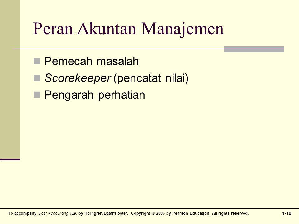 Peran Akuntan Manajemen