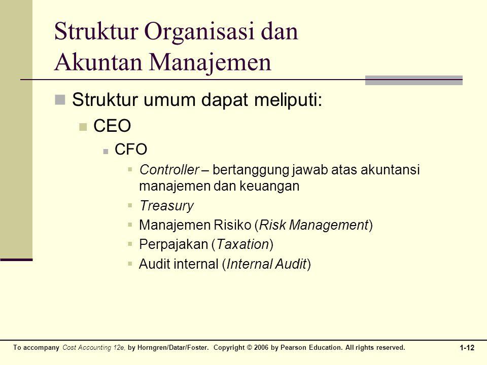 Struktur Organisasi dan Akuntan Manajemen