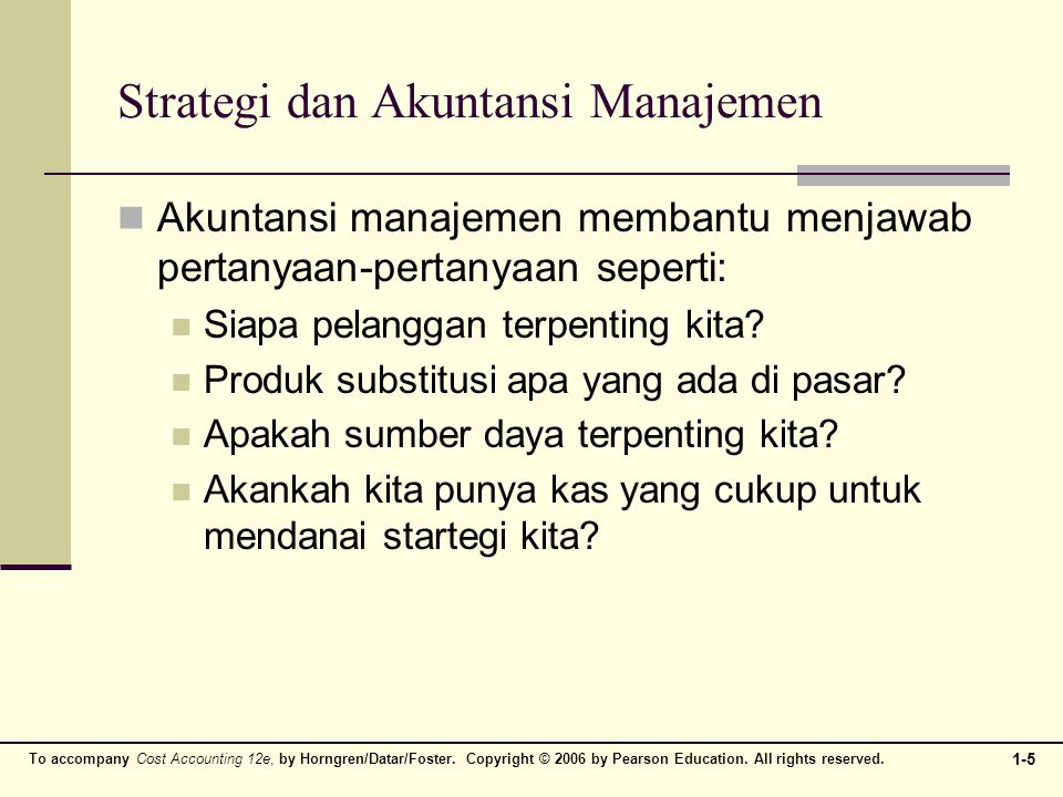 Strategi dan Akuntansi Manajemen