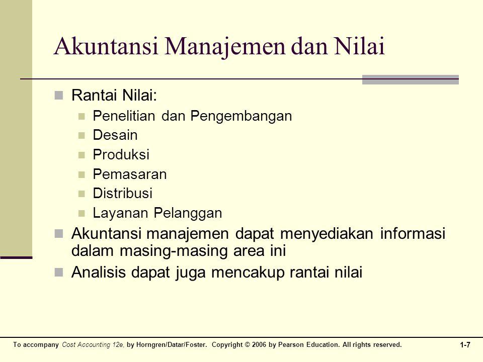 Akuntansi Manajemen dan Nilai