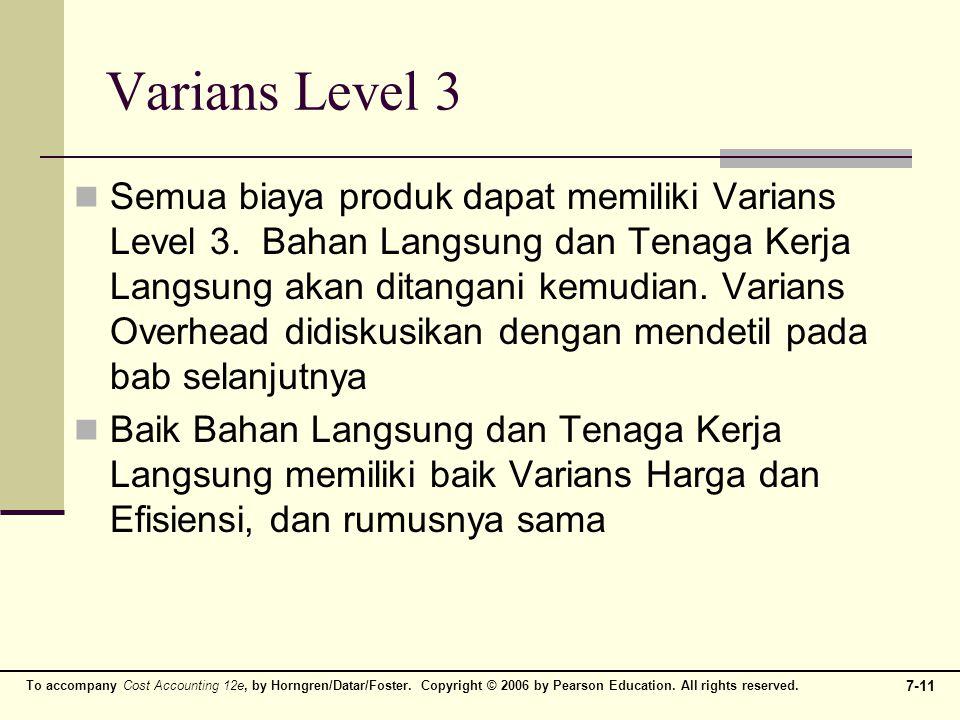 Varians Level 3