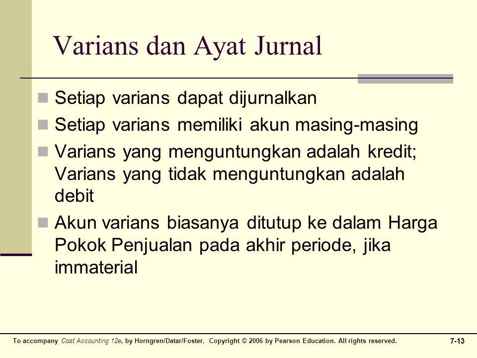 Varians dan Ayat Jurnal