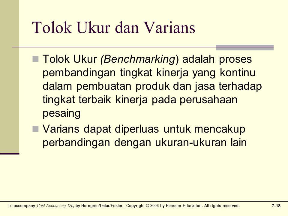Tolok Ukur dan Varians