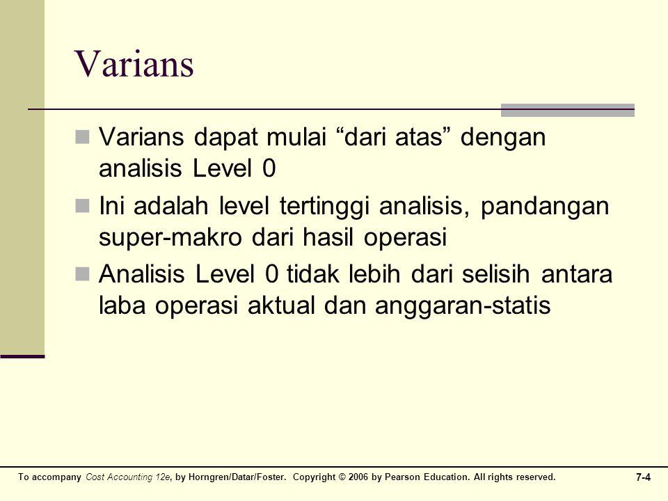 Varians Varians dapat mulai dari atas dengan analisis Level 0