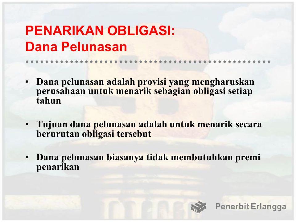 PENARIKAN OBLIGASI: Dana Pelunasan
