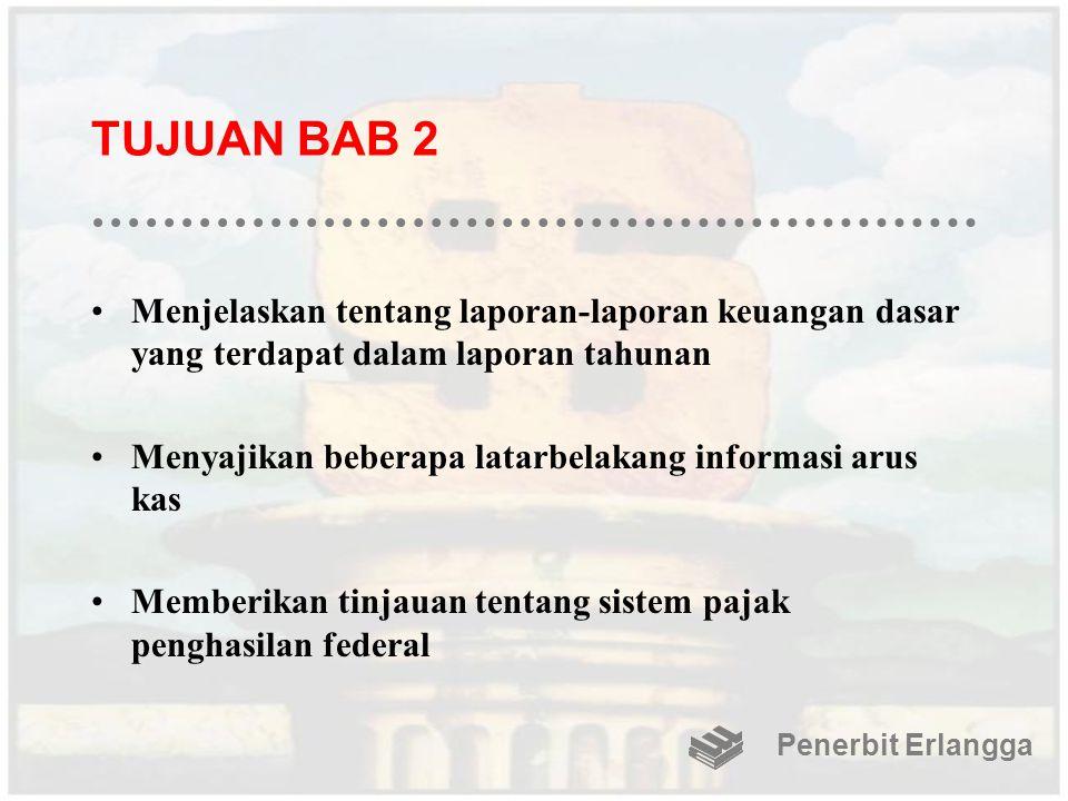 TUJUAN BAB 2 Menjelaskan tentang laporan-laporan keuangan dasar yang terdapat dalam laporan tahunan.