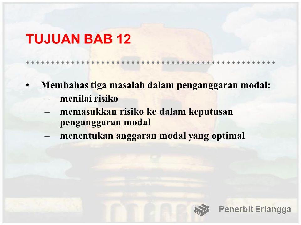TUJUAN BAB 12 Membahas tiga masalah dalam penganggaran modal: