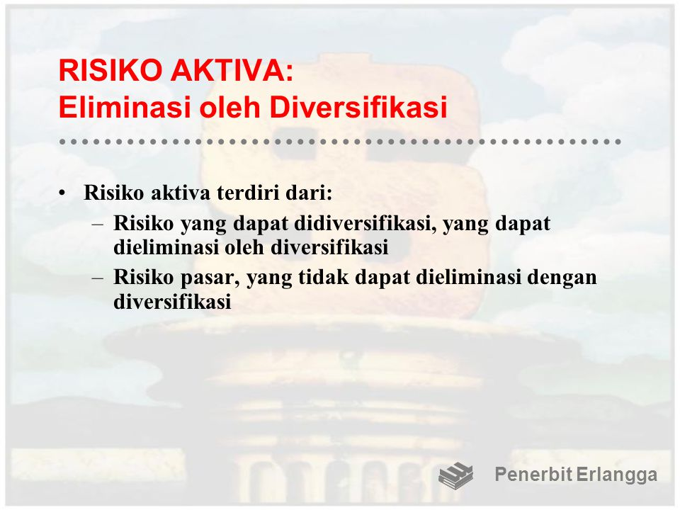 RISIKO AKTIVA: Eliminasi oleh Diversifikasi