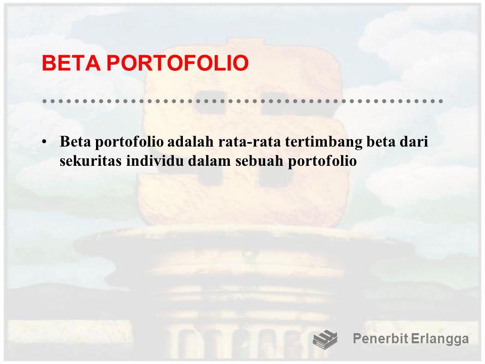 BETA PORTOFOLIO Beta portofolio adalah rata-rata tertimbang beta dari sekuritas individu dalam sebuah portofolio.