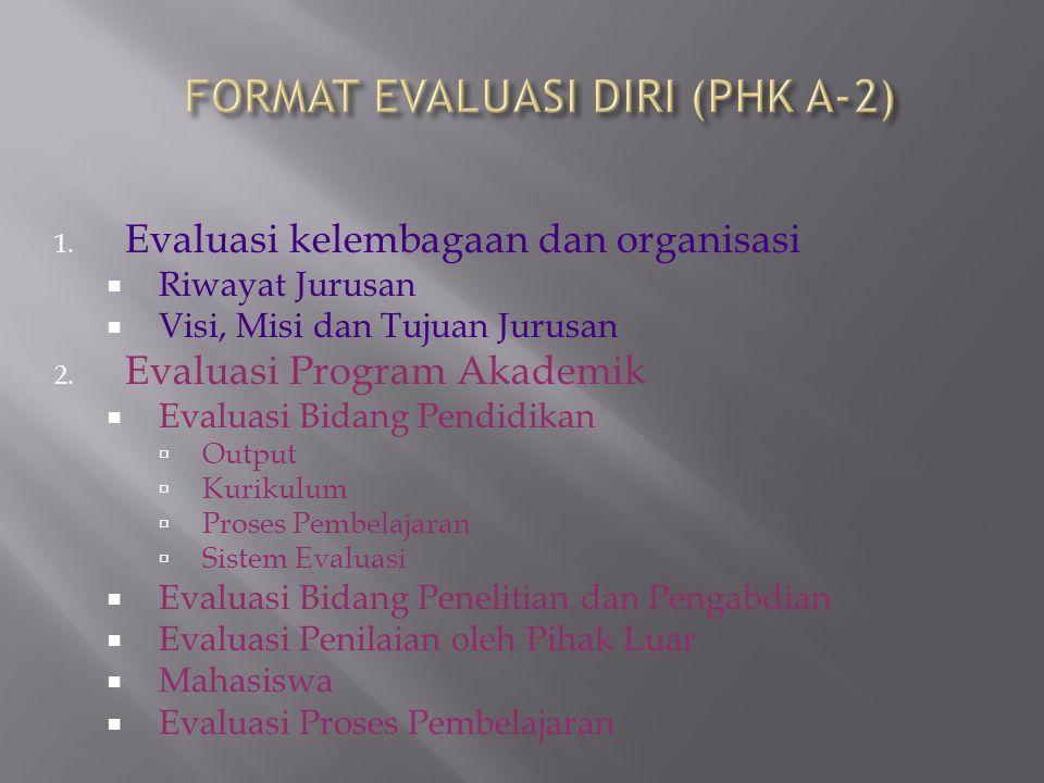 FORMAT EVALUASI DIRI (PHK A-2)