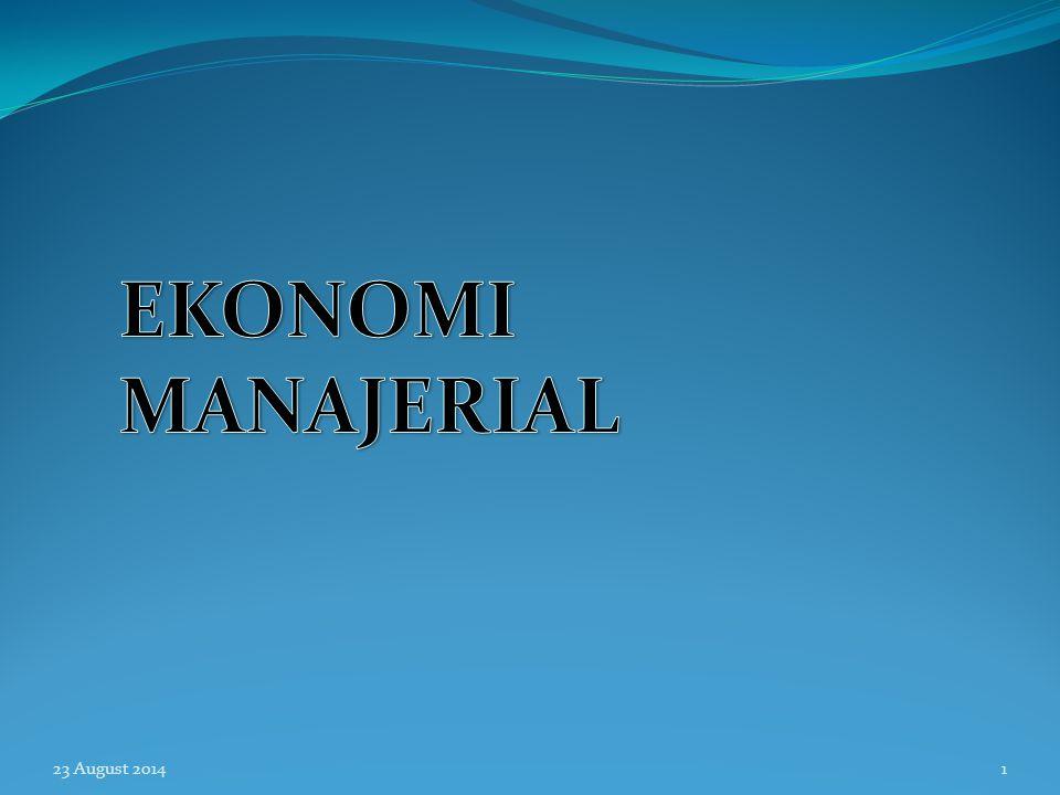 EKONOMI MANAJERIAL 6 April 2017