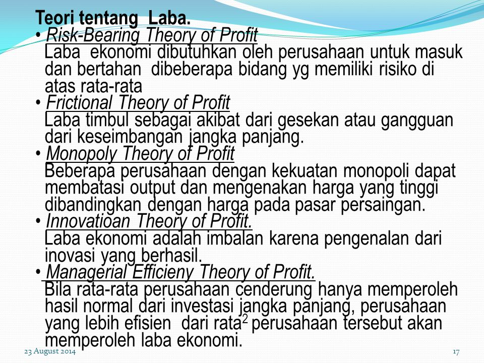 Risk-Bearing Theory of Profit