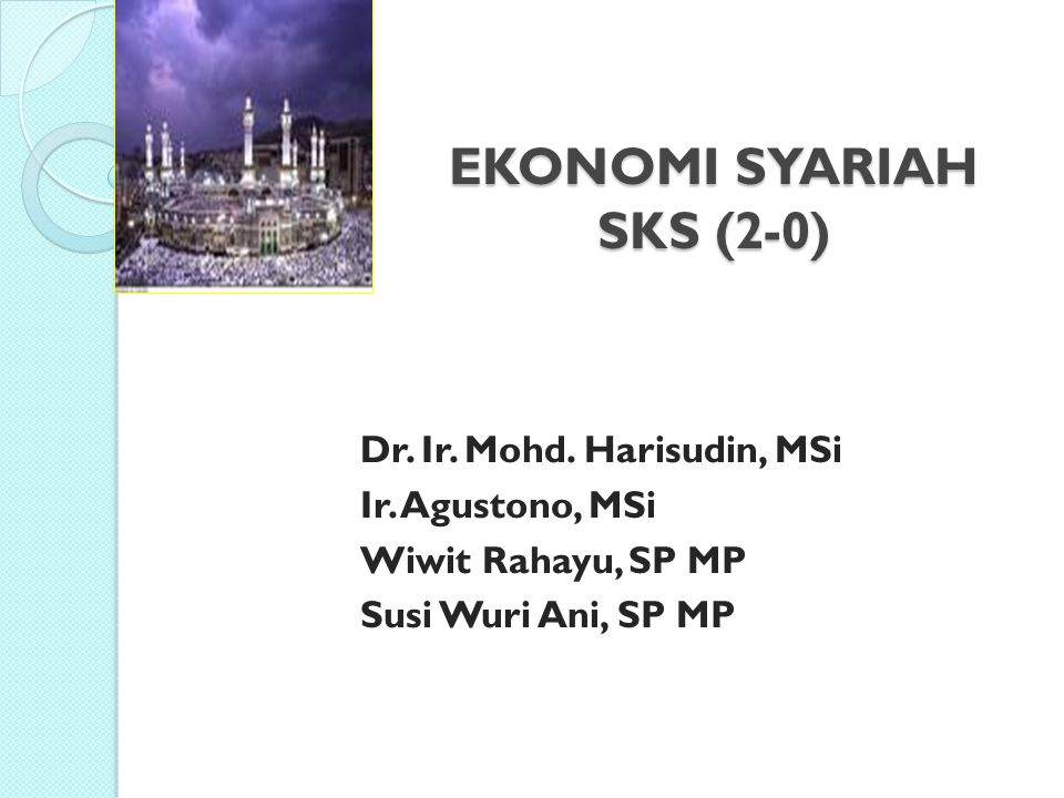 EKONOMI SYARIAH SKS (2-0)