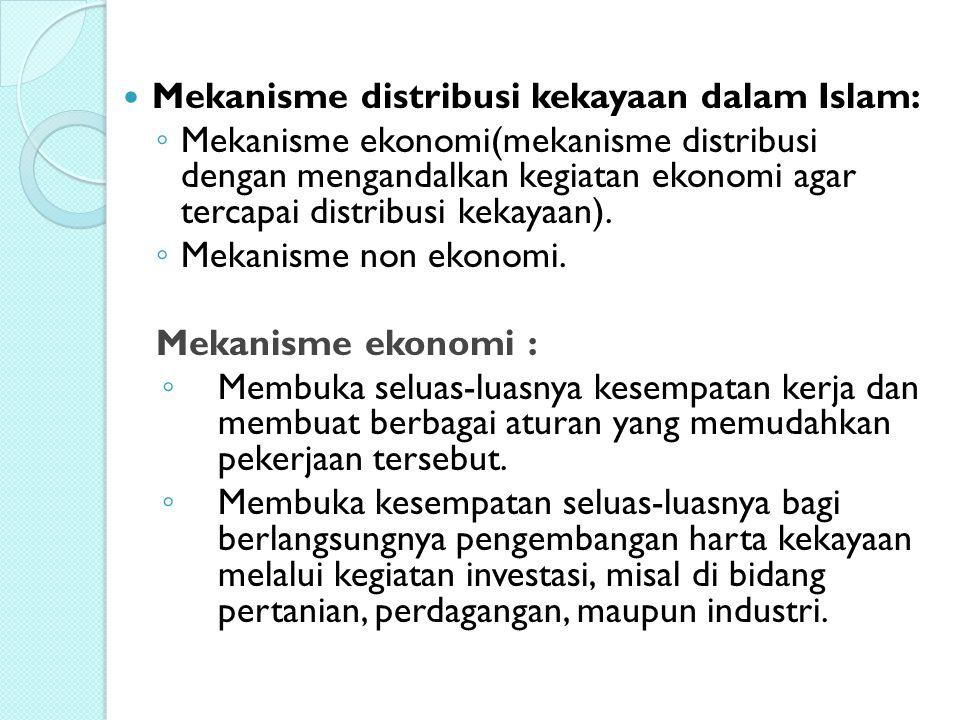 Mekanisme distribusi kekayaan dalam Islam: