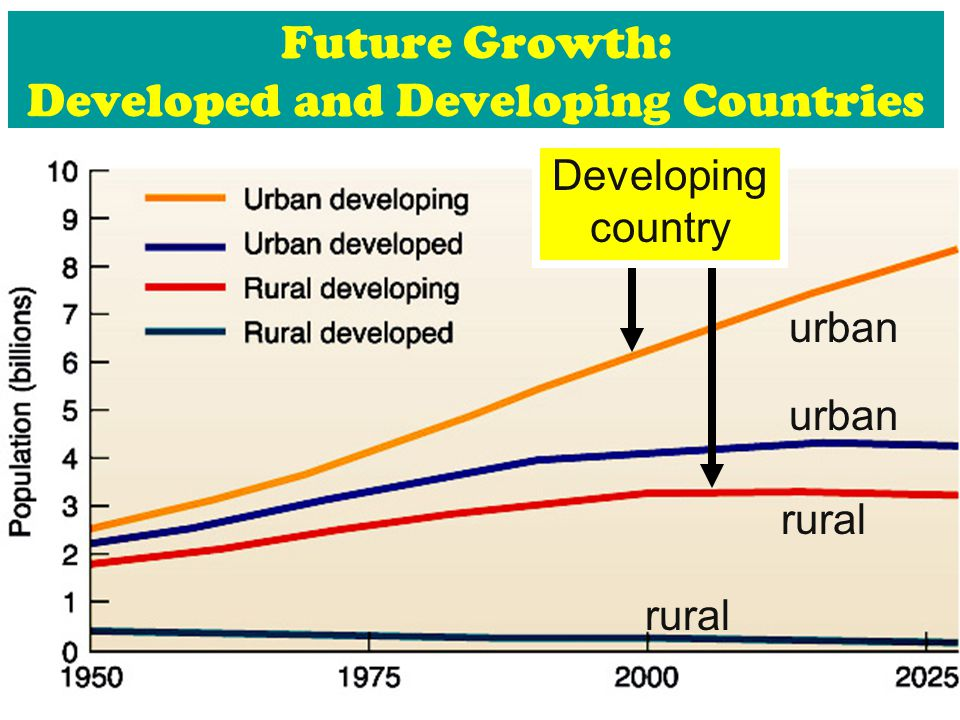 Future Growth: Developed and Developing Countries