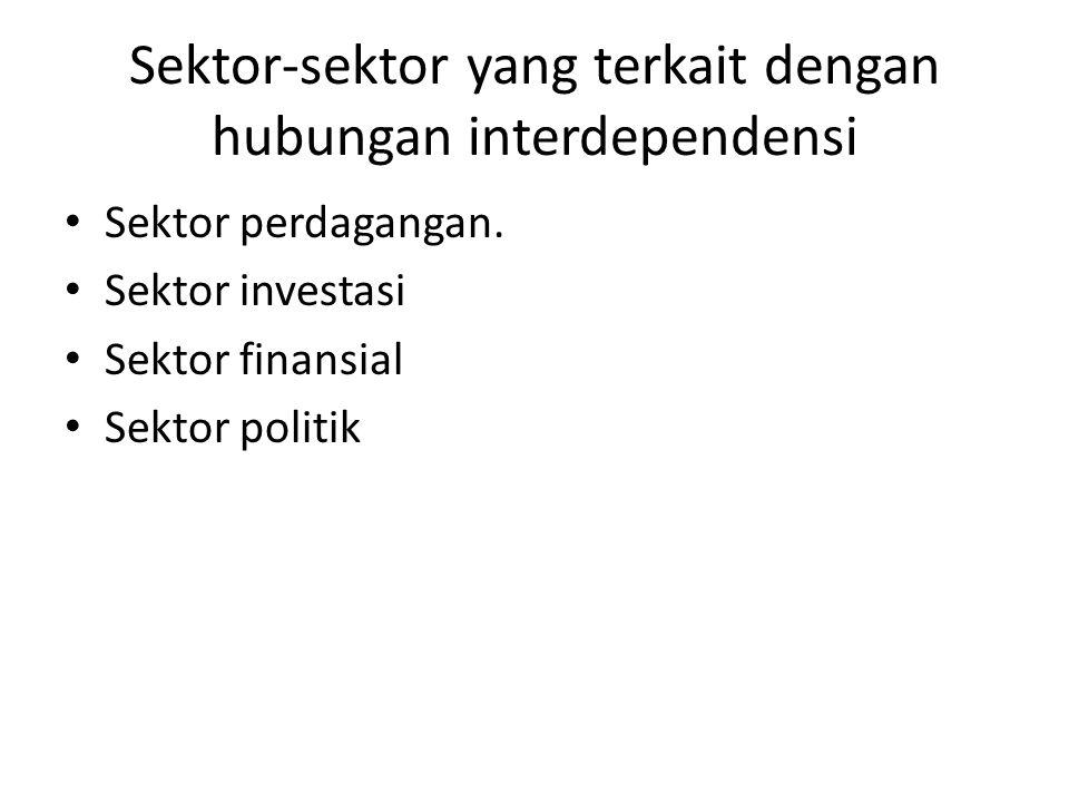 Sektor-sektor yang terkait dengan hubungan interdependensi