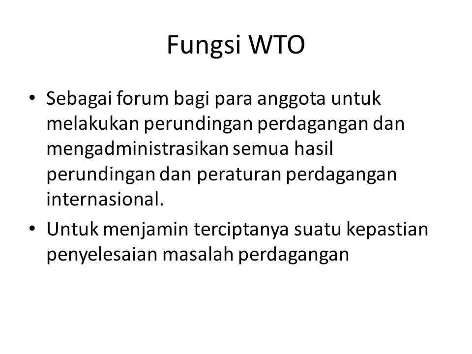 Fungsi WTO