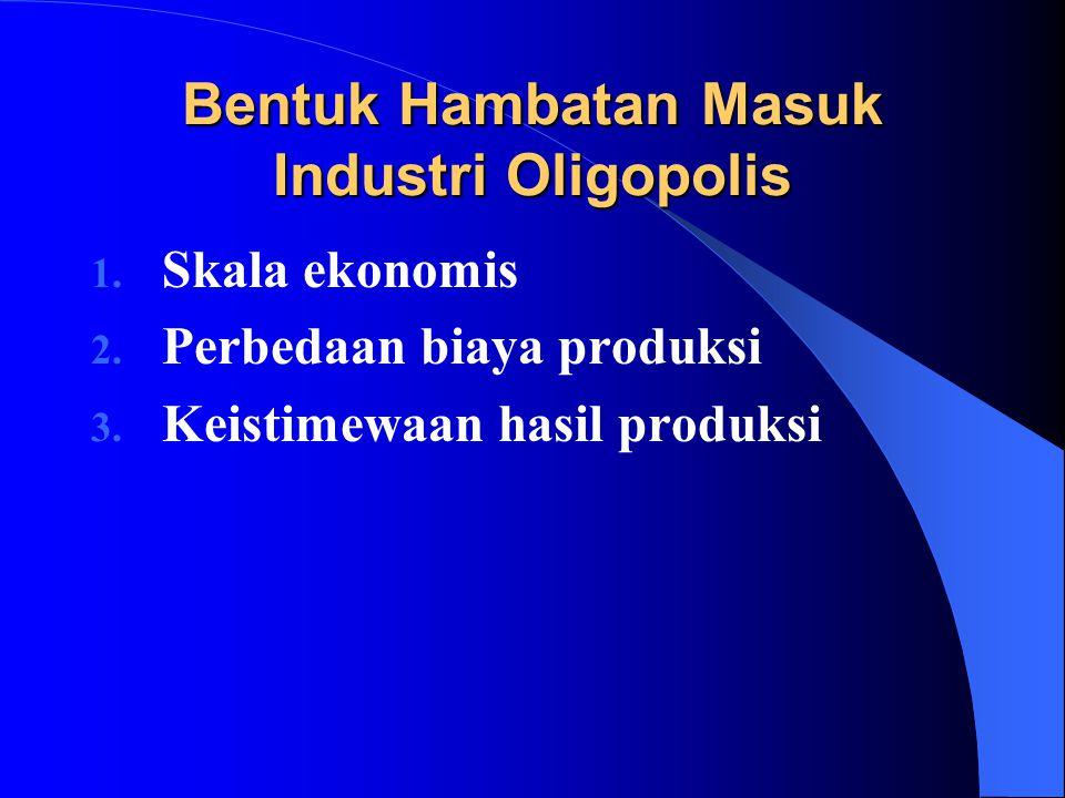 Bentuk Hambatan Masuk Industri Oligopolis