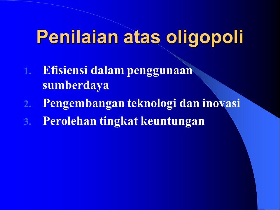 Penilaian atas oligopoli