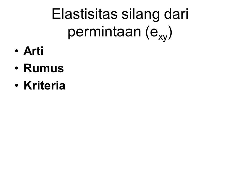 Elastisitas silang dari permintaan (exy)