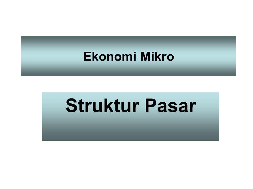 Ekonomi Mikro Struktur Pasar
