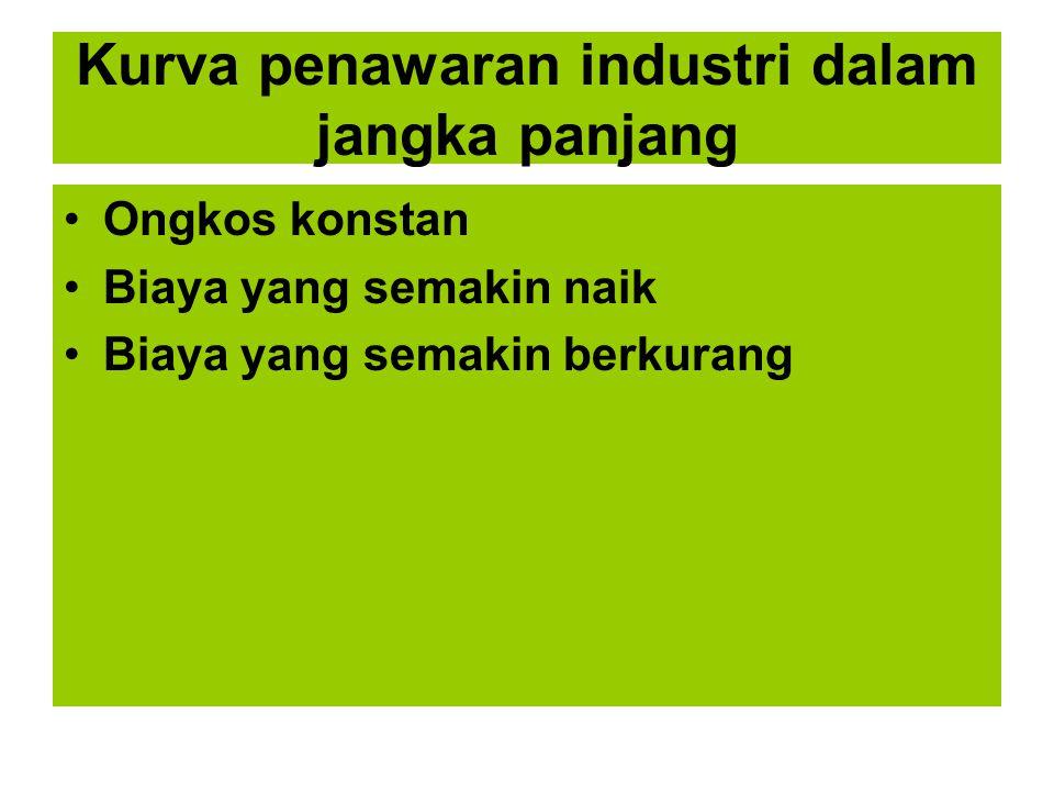 Kurva penawaran industri dalam jangka panjang