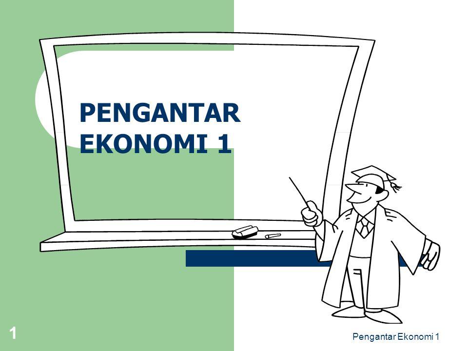 PENGANTAR EKONOMI 1 Pengantar Ekonomi 1