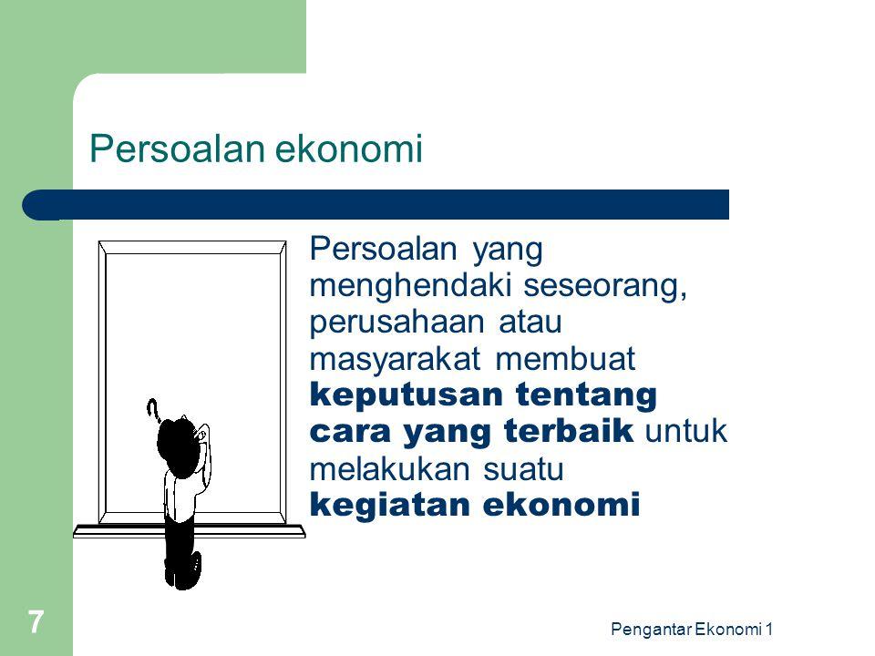 Persoalan ekonomi