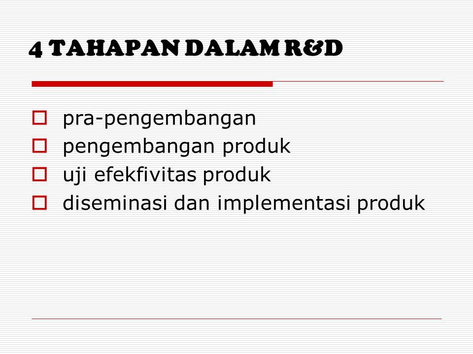 4 TAHAPAN DALAM R&D pra-pengembangan pengembangan produk
