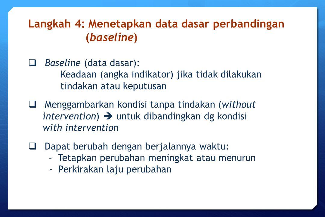 Langkah 4: Menetapkan data dasar perbandingan (baseline)