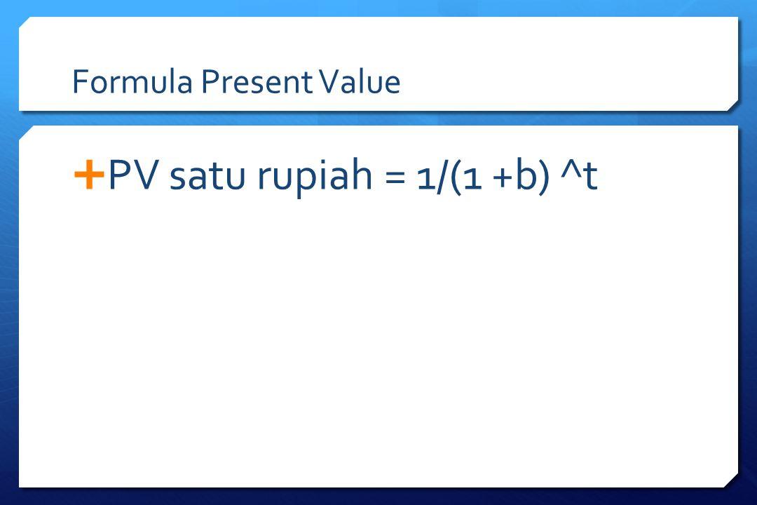 PV satu rupiah = 1/(1 +b) ^t