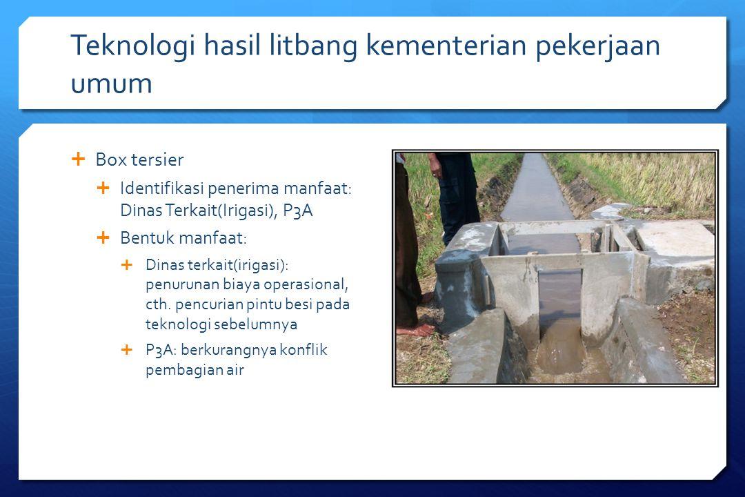 Teknologi hasil litbang kementerian pekerjaan umum